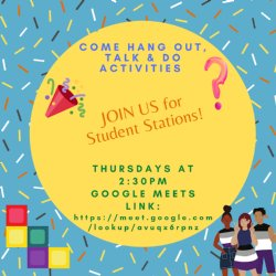 Student Stations Thursday Flyer